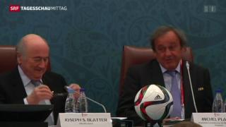 Video «Platini noch kein Fifa-Kandidat» abspielen