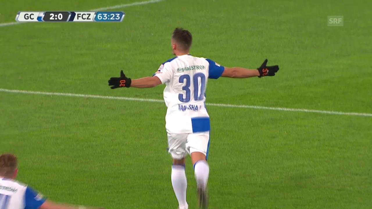 Fussball: Super League, 17. Runde, GC - Zürich, Tarashaj trifft zum 3:0