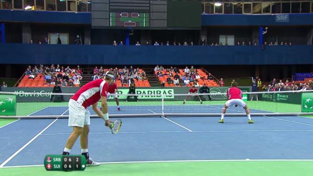 Video «Tennis: Davis Cup, Doppel Schweiz - Serbien» abspielen