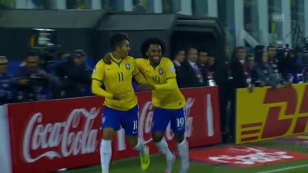 Video «Fussball: Copa America 2015, Gruppe C, die Tore bei Brasilien - Venezuela» abspielen
