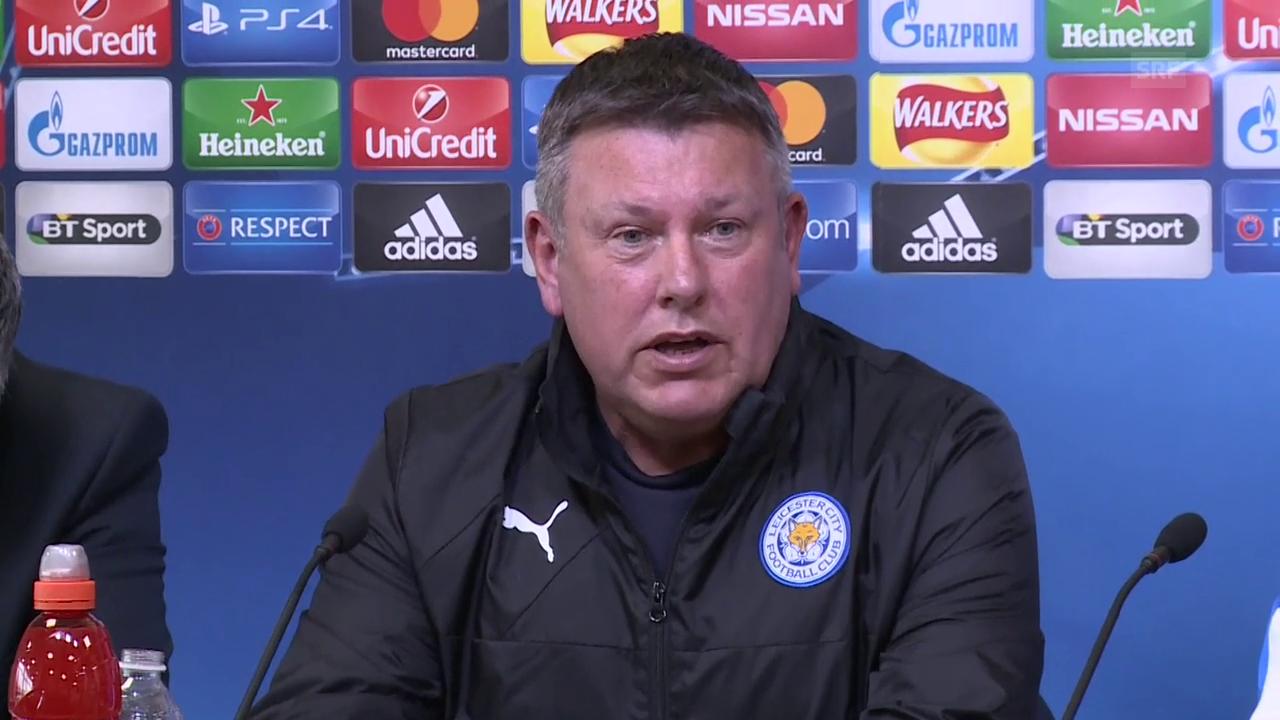 Leicester-Coach Craig Shakespeare blickt voraus (englisch, Quelle sntv