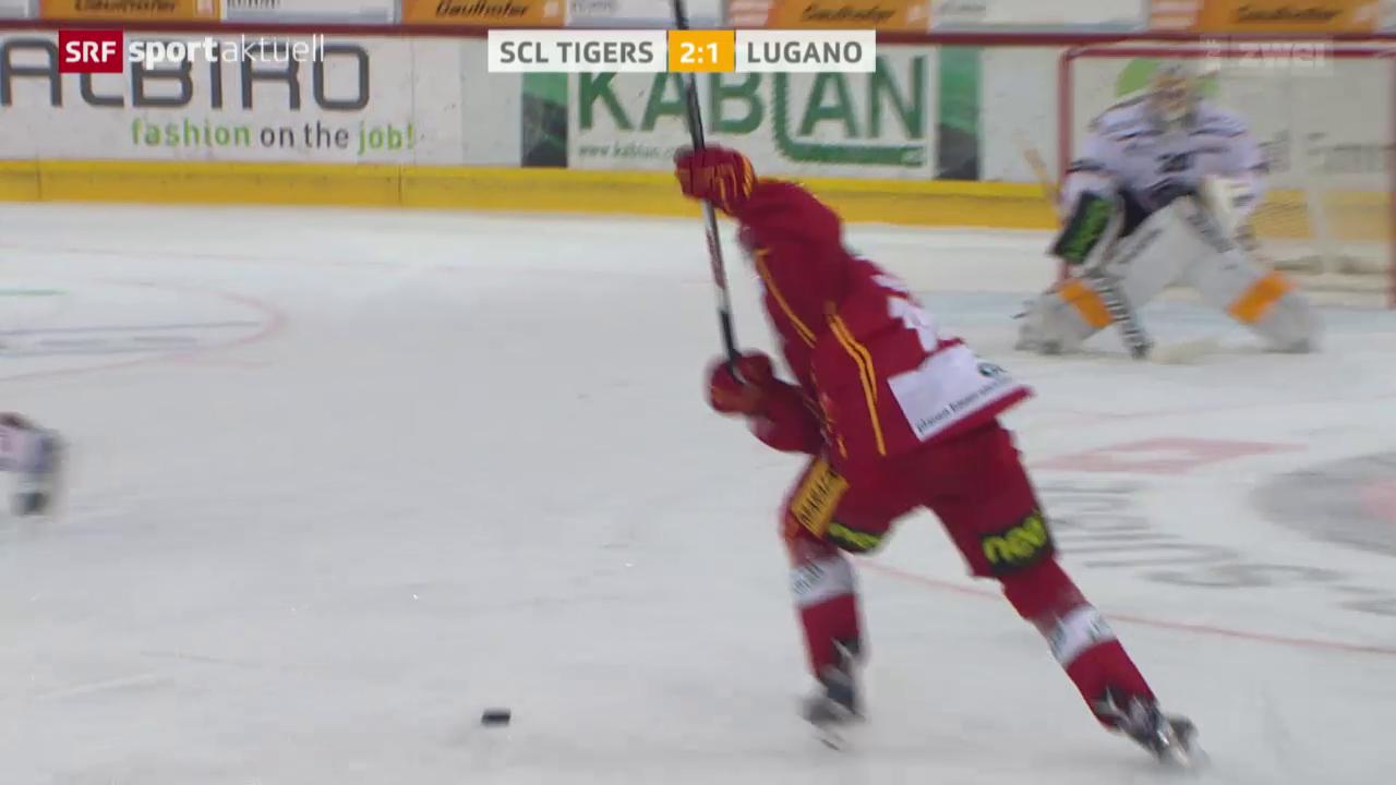 Eishockey: NLA, SCL Tigers - Lugano