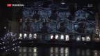 Video «Zwinglis Konterfei als Lichtinstallation» abspielen