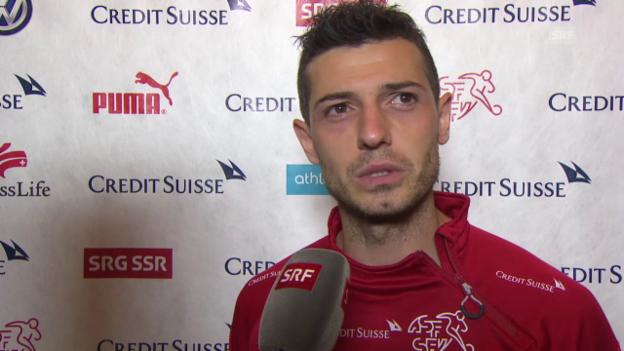 Video «Fussball: Schweiz-Liechtenstein, Interview mit Blerim Dzemaili» abspielen
