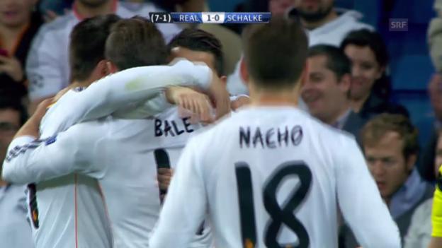 Video «Fussball: Champions League, Zusammenfassung Real Madrid - Schalke («sportlive», 18.3.2014)» abspielen