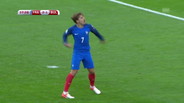 Video «Frankreich dreht gegen Bulgarien einen Rückstand» abspielen