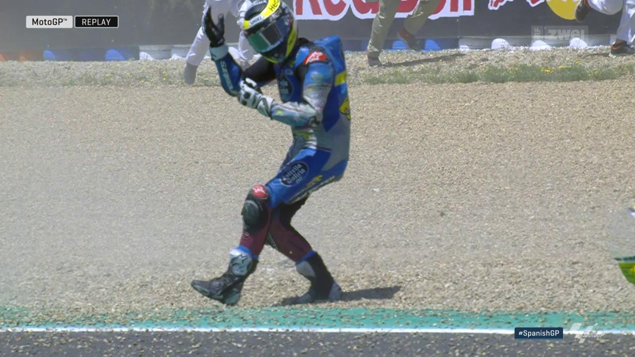 Lüthi stürzt bei Marquez-Sieg