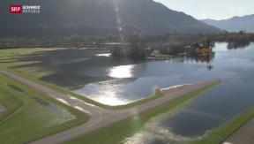 Video «Flugbetrieb sechs Tage eingestellt wegen Hochwasser» abspielen