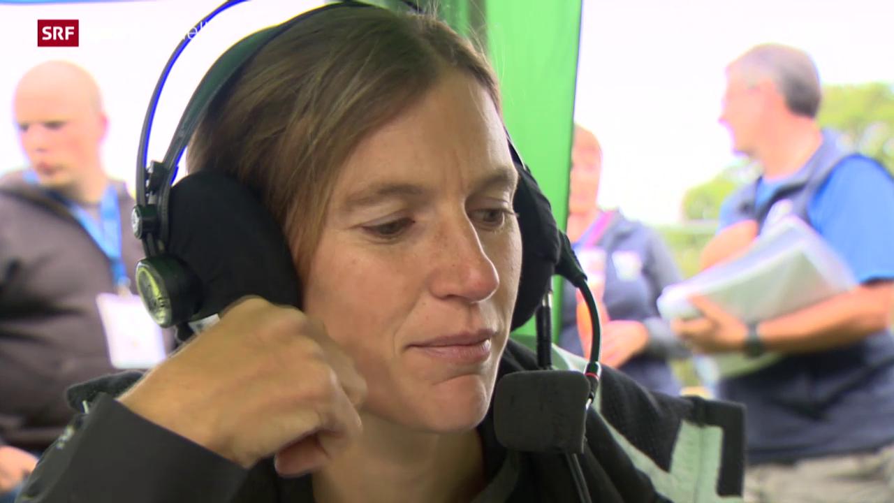 OL-WM: Simone Niggli kommentiert im schwedischen TV