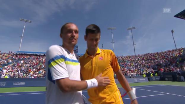 Video «Highlights Djokovic-Dolgopolow» abspielen