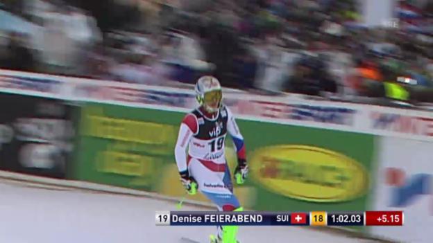 Video «Ski: Weltcup, Slalom Frauen Zagreb, 1. Lauf Feierabend» abspielen