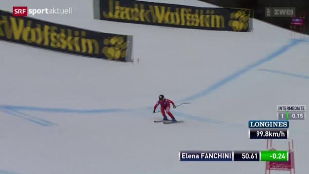 Video «Ski alpin: Frauen-Abfahrt in Cortina» abspielen