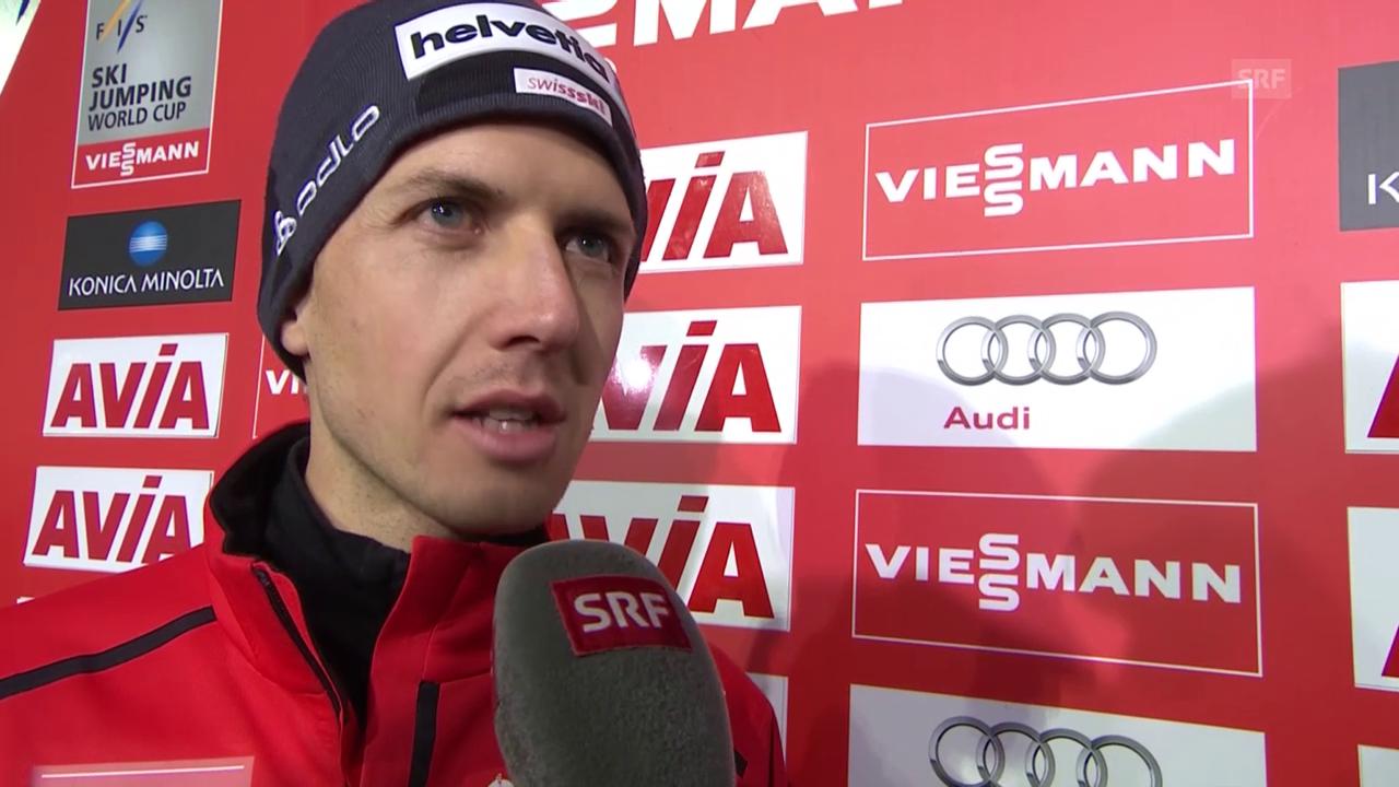 Skispringen: Simon Ammann nach dem Wettkampf in Klingenthal