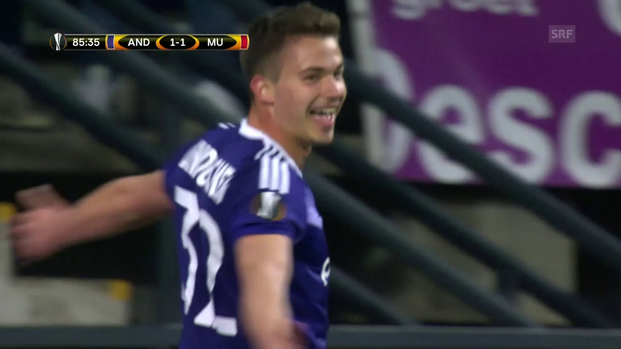 Anderlecht gegen pomadige United spät belohnt