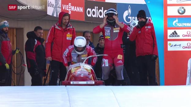 Video «Bob: Hefti/Baumann in St. Moritz auf Platz 2 («sportaktuell»)» abspielen