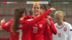 Video «Fussball: Frauen EM-Quali, Schweiz - Tschechien» abspielen