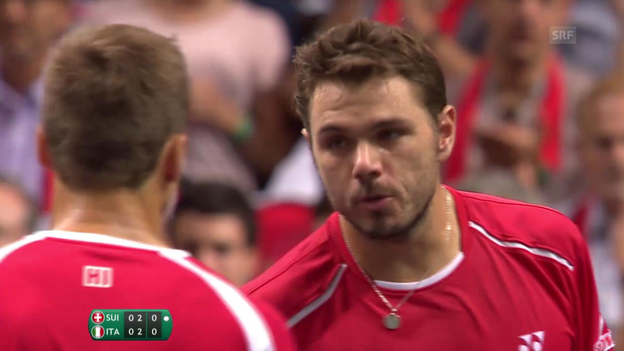 Tennis: Highlights Wawrinka/Chiudinelli - Fognini/Bolelli