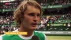 Video «Federer trifft im Halle-Final auf Alexander Zverev» abspielen