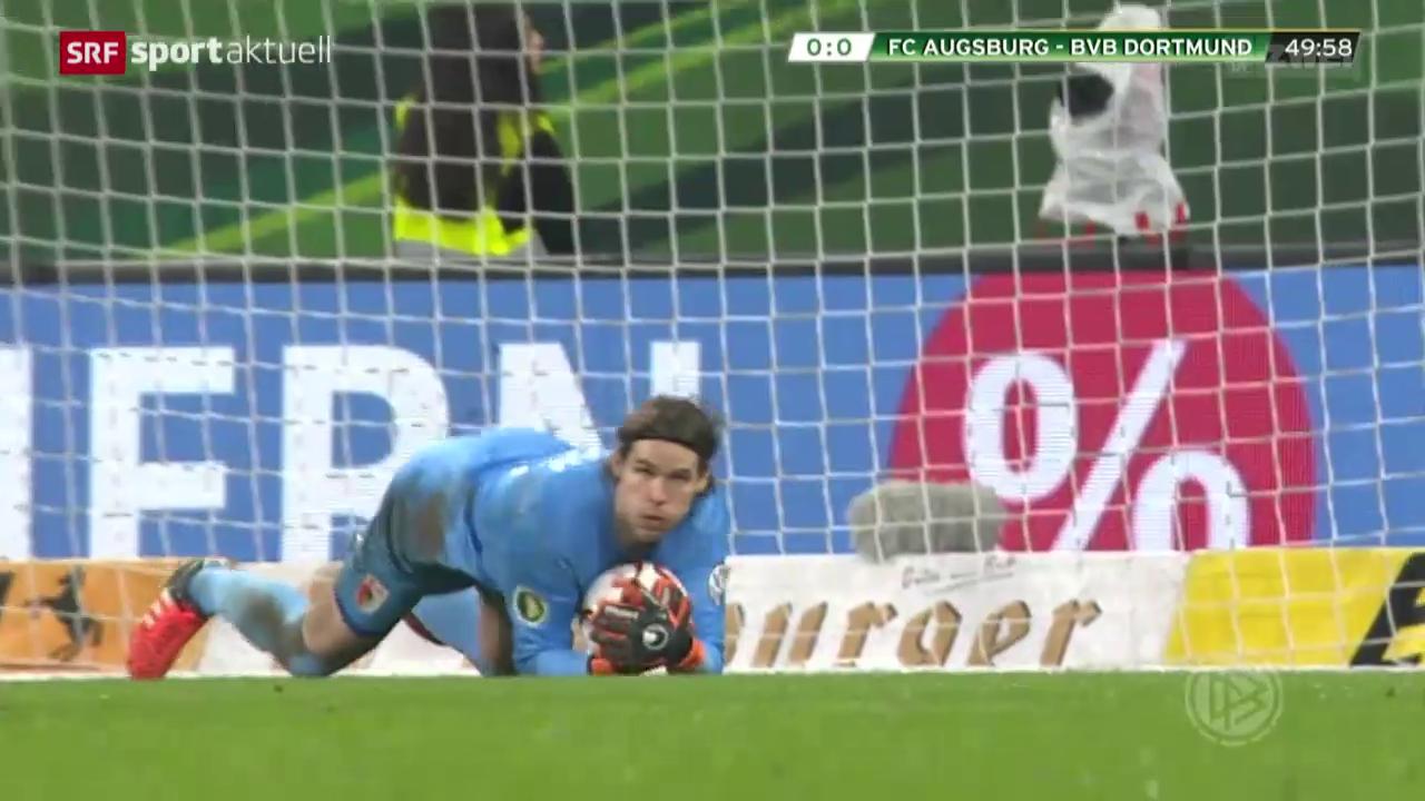 Fussball: DFB-Pokal, Augsburg-Dortmund