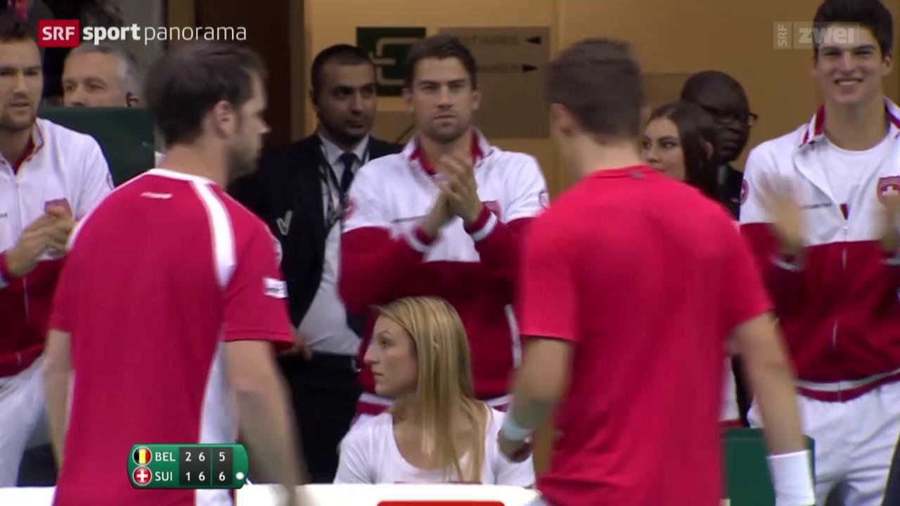 Tennis: Davis Cup, Schweiz - Belgien