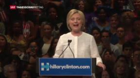 Video «Clinton als erste Präsidentschafts-Kandidatin » abspielen