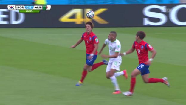 Video «Südkorea - Algerien: Tore 1. Halbzeit» abspielen