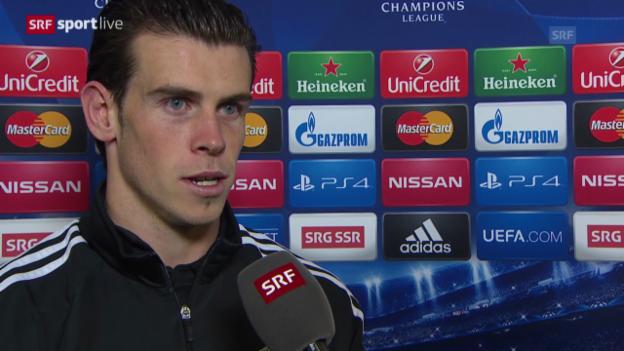 Video «Fussball: Champions League, Basel - Real Madrid, Interview mit Gareth Bale» abspielen