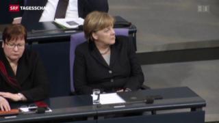 Video «Angela Merkel unter Druck» abspielen