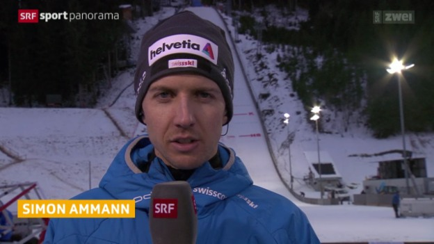 Video «Skispringen: Interview mit Simon Ammann» abspielen