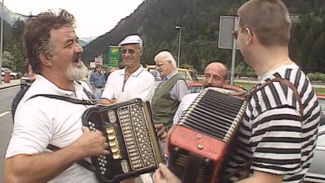 Auto-Demonstration der Lega dei Ticinesi (10vor10, 26.07.1991)