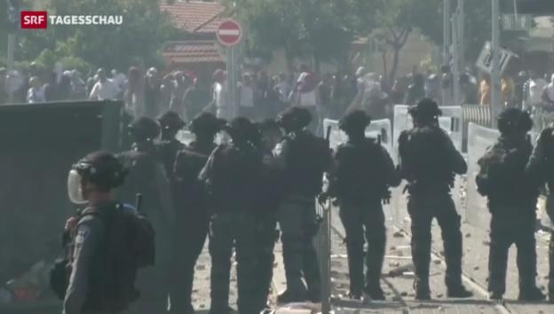 Video «Angespannte Stimmung in Jerusalem» abspielen