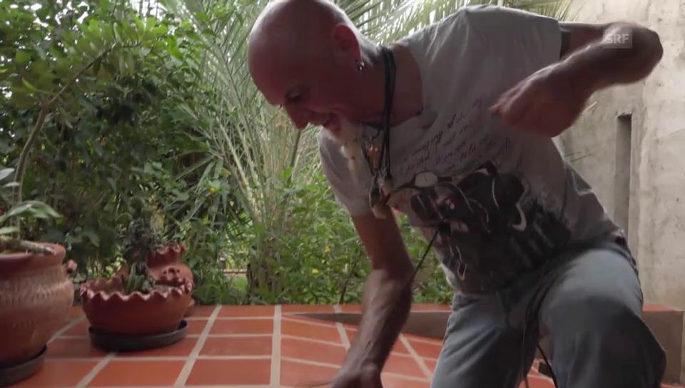 Teres Brunett und Claudio Candrian: Klamauk beim Kabel verlegen