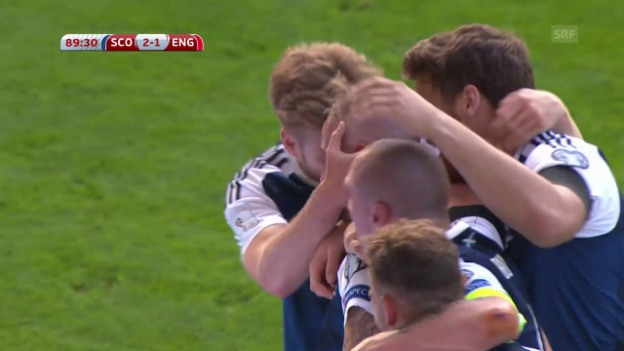 Video «Turbulente 3 Tore bei Schottland-England» abspielen