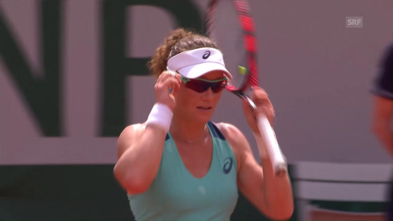 Entscheidende Punkte bei Stosur - Safarova