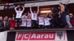 Video «ChL/SL: Aarau steigt auf («sportaktuell»)» abspielen