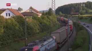 Video «Vibrationen durch Züge bereiten Anwohnern schlaflose Nächte» abspielen