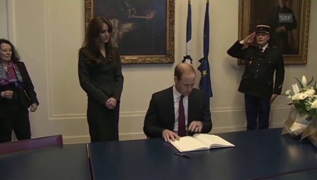 Video «William und Kate bekunden ihr Beileid (unkommentiert)» abspielen