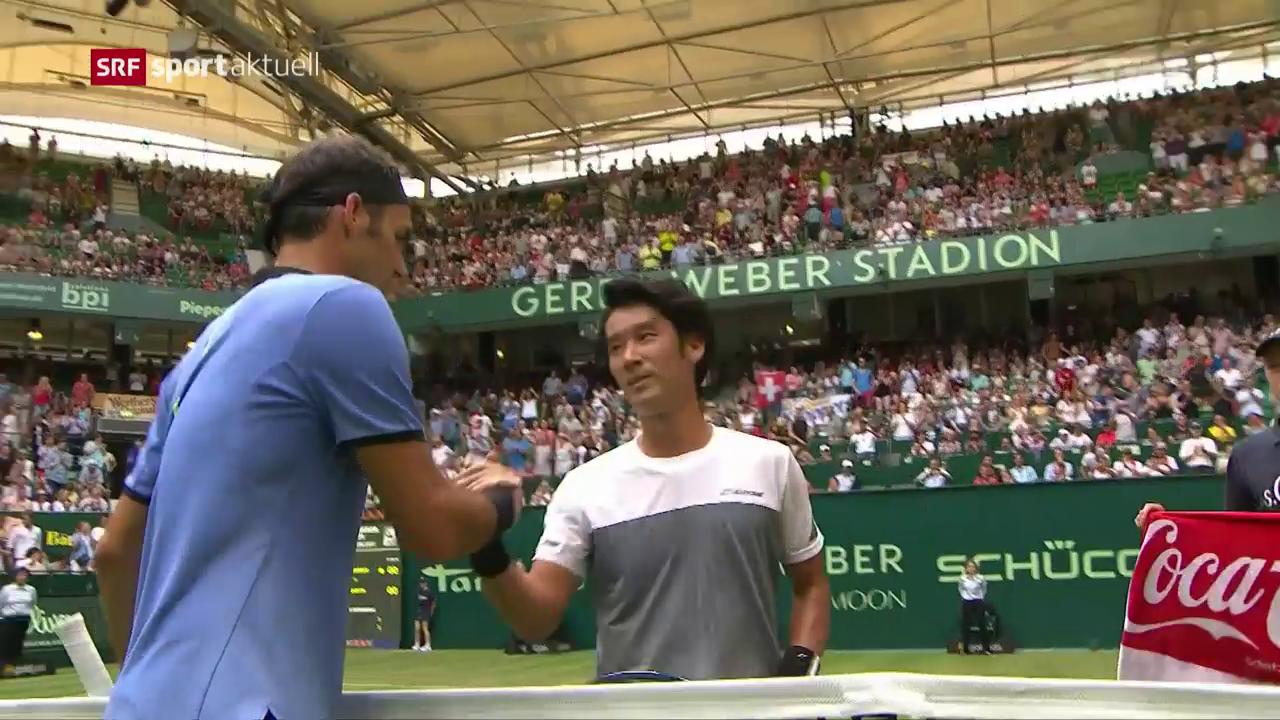 Federer glückt der Start in Halle ohne Probleme