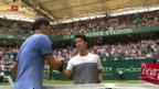 Video «Federer glückt der Start in Halle ohne Probleme» abspielen