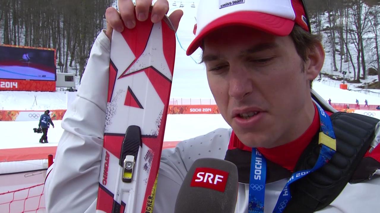 Sotschi: Ski, Abfahrt Männer, Interview Janka