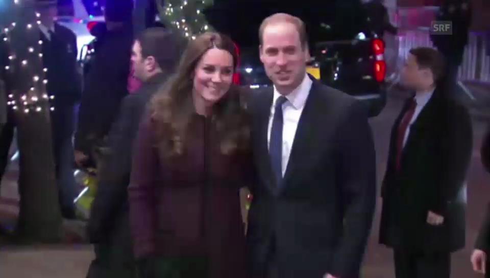 Kreischende Fans warten in New York auf William und Kate