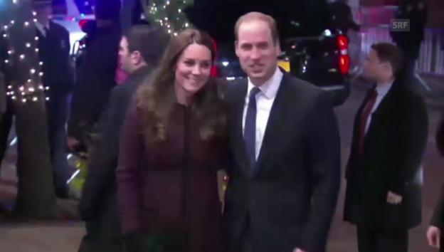 Video «Kreischende Fans warten in New York auf William und Kate» abspielen