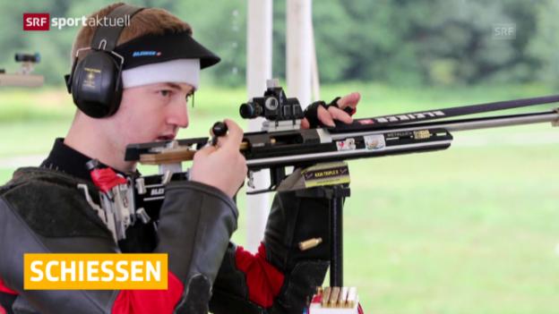 Video «Schiessen: EM, Bronze für Männer-Team» abspielen