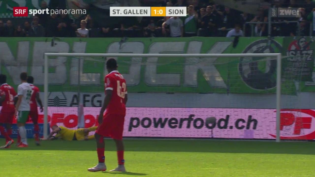 Fussball: Super League, St.Gallen - Sion