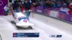 Video «Zweierbob: Der 4. Run von Subkow (sotschi direkt, 17.2.2014)» abspielen