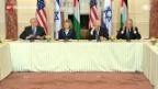 Video «Abbas und Netanjahu bekräftigen Friedenswille» abspielen