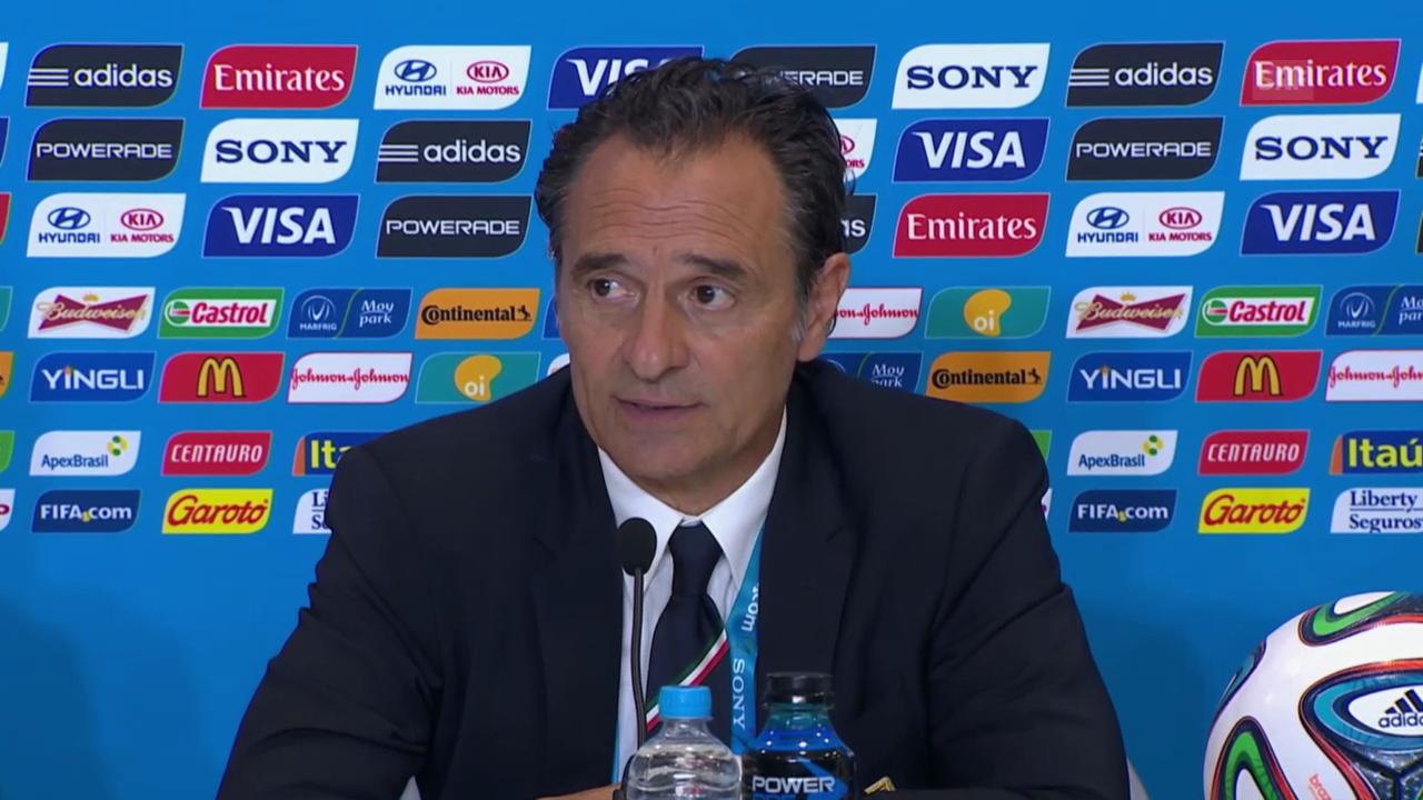 Fussball: Cesare Prandelli gibt an der Medienkonferenz seinen Rücktritt bekannt (italienisch)
