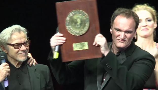 Video «Quentin Tarantino bedankt sich für die Auszeichnung» abspielen