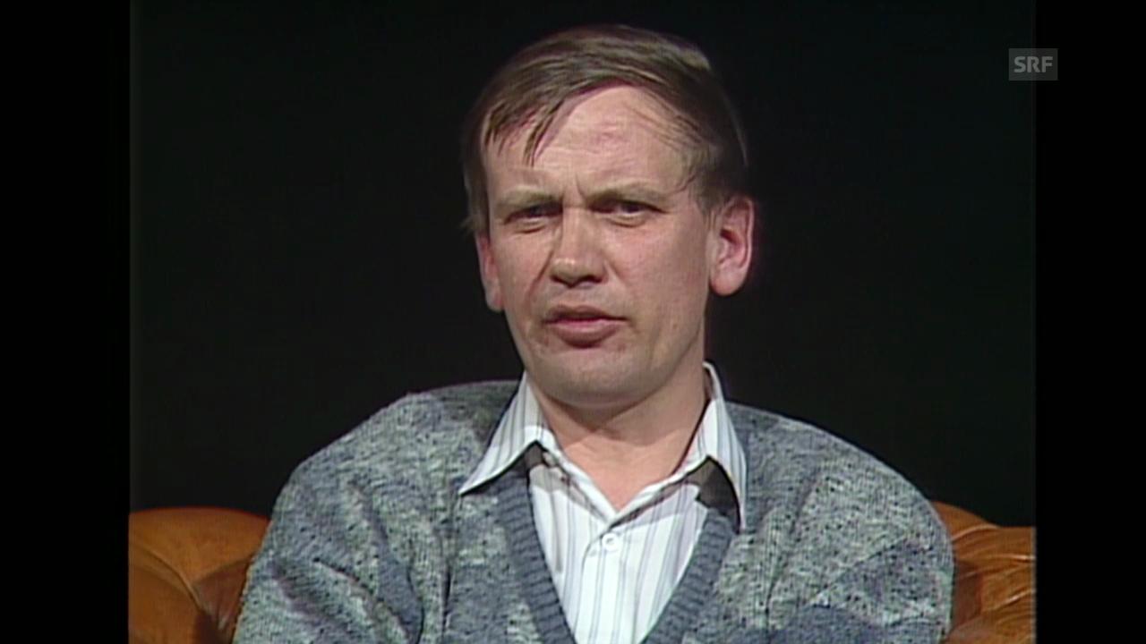 Joachim Garstecki im «Club», 16.5.1989