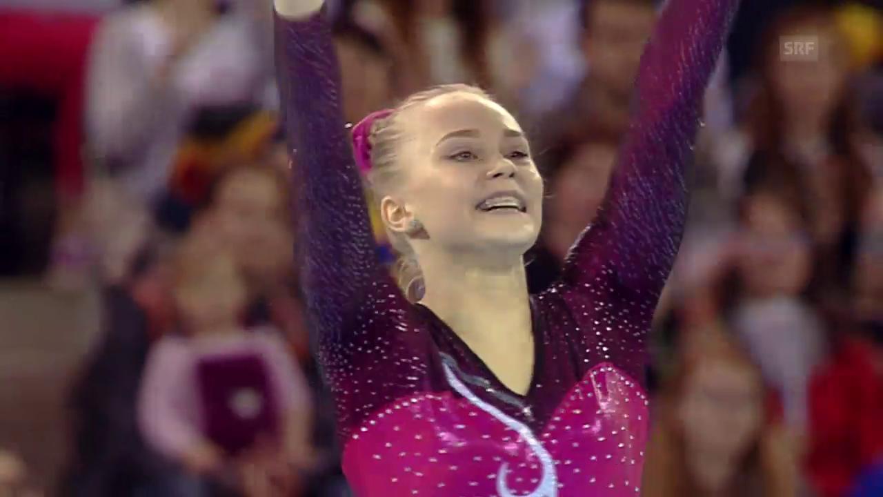 Akrobatin Melnikowa turnt am Boden zu EM-Gold